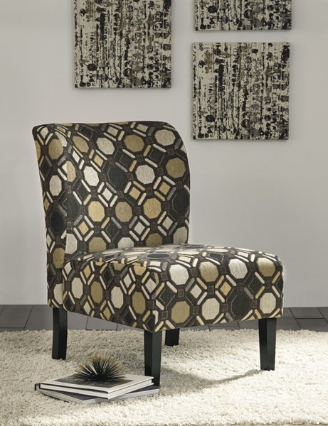 Tibbee Contemporary Pebble Fabric Wood Accent Chair 9910160