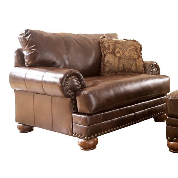 DuraBlend Traditional Antique Leather Chair And A Half 9920023