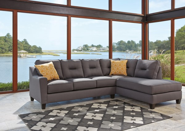 Ashley Furniture Kirwin Nuvella RAF Chaise Sectionals 99602-SEC-VAR1