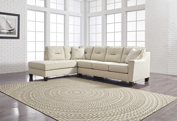 Ashley Furniture Kirwin Nuvella Sand Laf Chaise Sectional