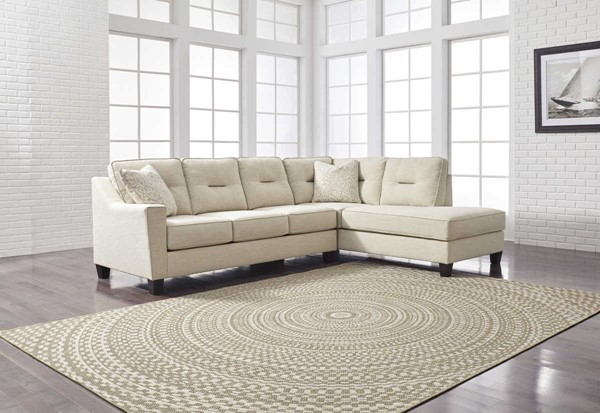 Ashley Furniture Kirwin Nuvella Sand Raf Chaise Sectional
