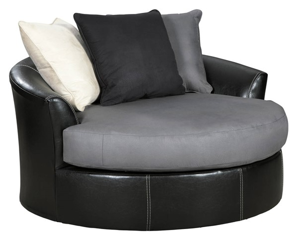 Ashley Furniture Jacurso Charcoal Oversized Swivel Accent Chair 9980421