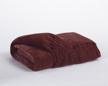 Revere Contemporary Burgundy Playa Bronze Throws A1000032T-THRW-VAR