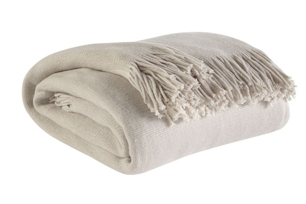 Haiden Traditional Ivory Taupe Acrylic Throws A1000042-THR-VAR