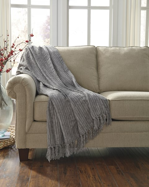Noland Traditional Classics Gray Striped Throw A1000064T