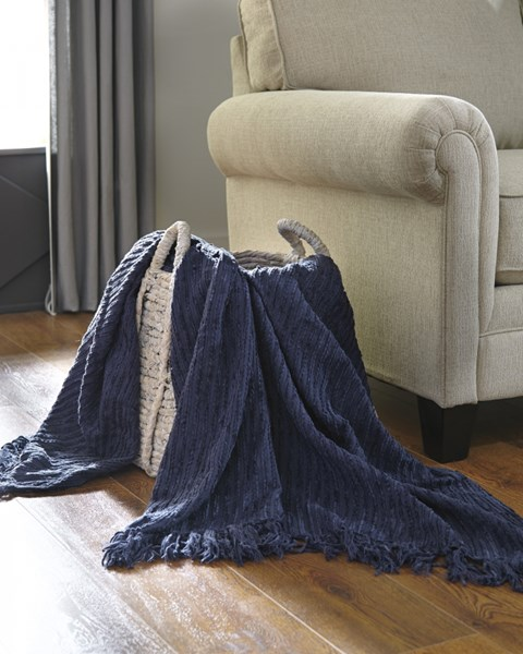Noland Traditional Classics Navy Striped Throw A1000083T