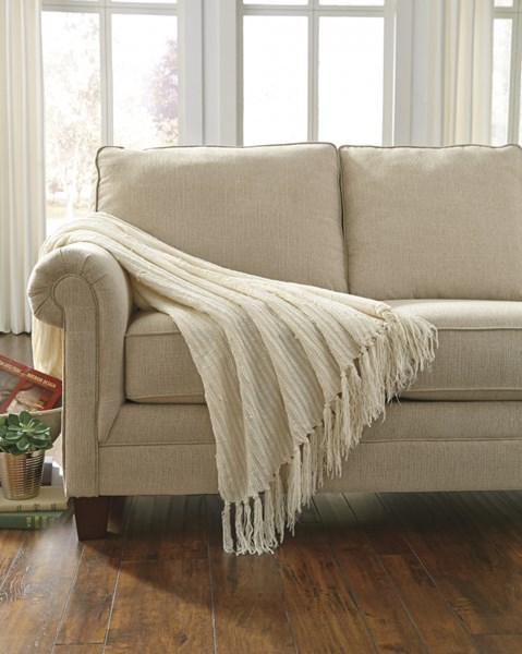Noland Traditional Classics Off White Striped Throw (3/CS) A1000106