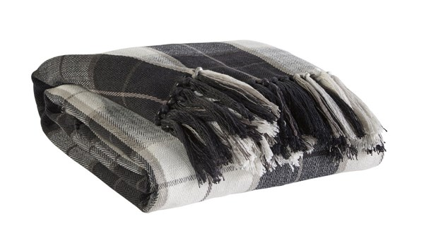 3 Raylan Traditional Black Fabric Throws A1000112