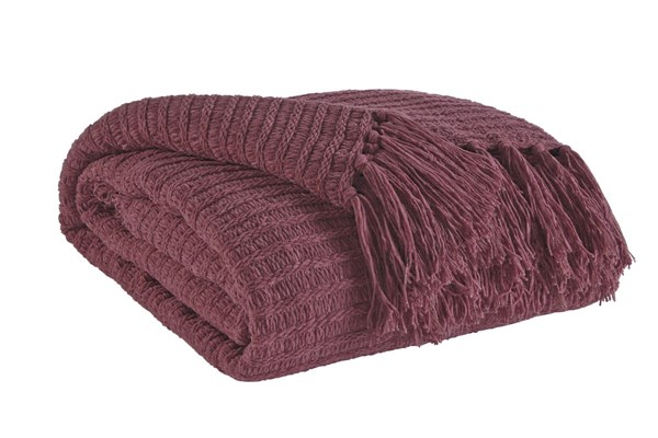 Santino Contemporary Berry Fabric Throws A100015-THR-VAR