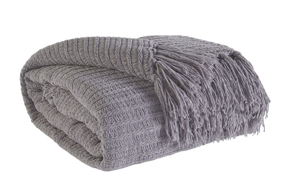 Santino Contemporary Gray Fabric Throw A1000154T