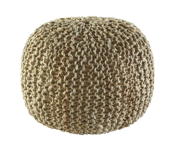 Dilip Casual Natural Jute Round Pouf A1000156