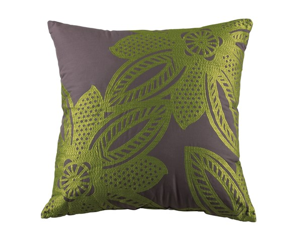 6 Wyler Transitional Lime Fabric Floral / Plants Pillows A1000172