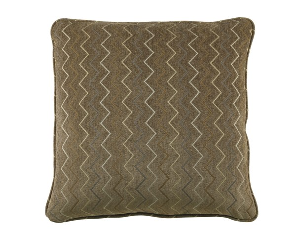 Fritz Transitional Earth Chevron Square Pillow A1000194P