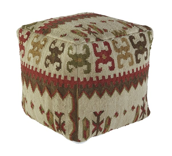 Aarav Traditional Fabric Cushions Pouf A1000202