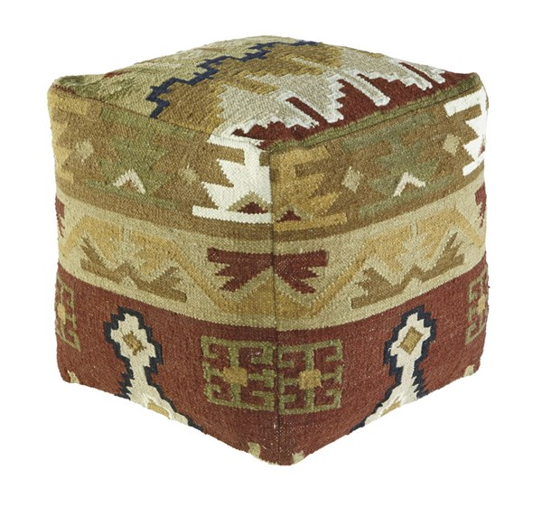 Abner Traditional Fabric Cushions Pouf A1000206