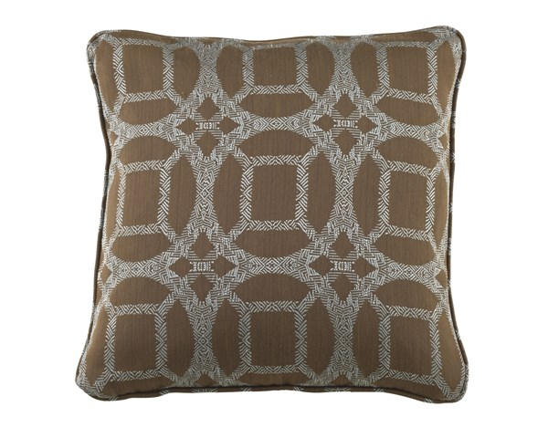 Caslynne Transitional Blue Geometric Pillow A1000207P