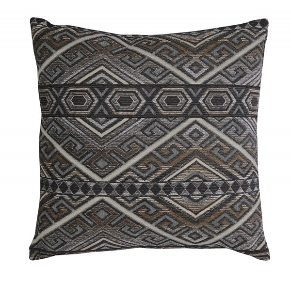 Erata Contemporary Gray Brown Fabric Pillows A1000236-PLW-VAR