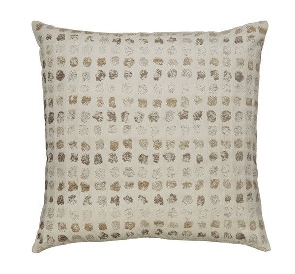 4 Whitehurst Contemporary Cream Taupe Fabric Down Pillows A1000238