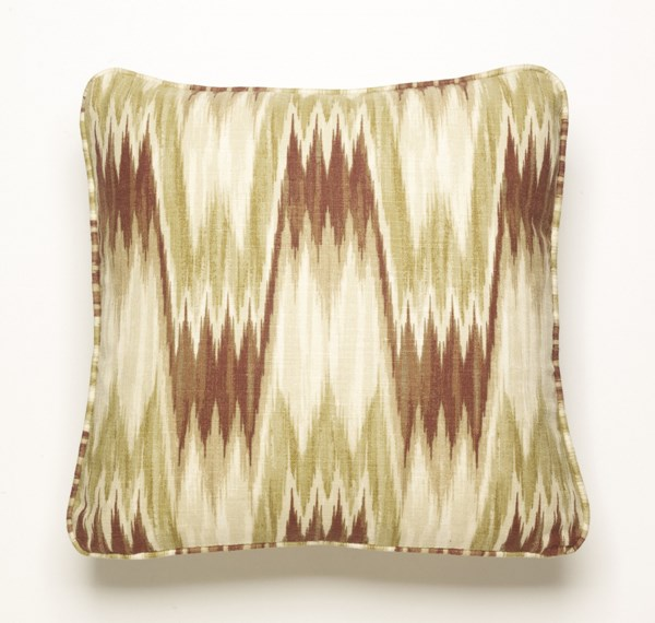 Latham Casual Ginger Fabric Square Pillows A1000240-VAR
