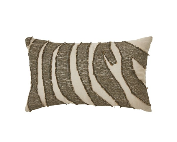 Akari Contemporary Brown Cream Fabric Pillows A1000258-PLW-VAR