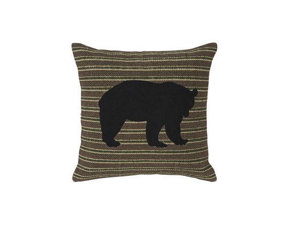 Darrell Casual Brown Black Green Fabric Poly Pillow A1000259P