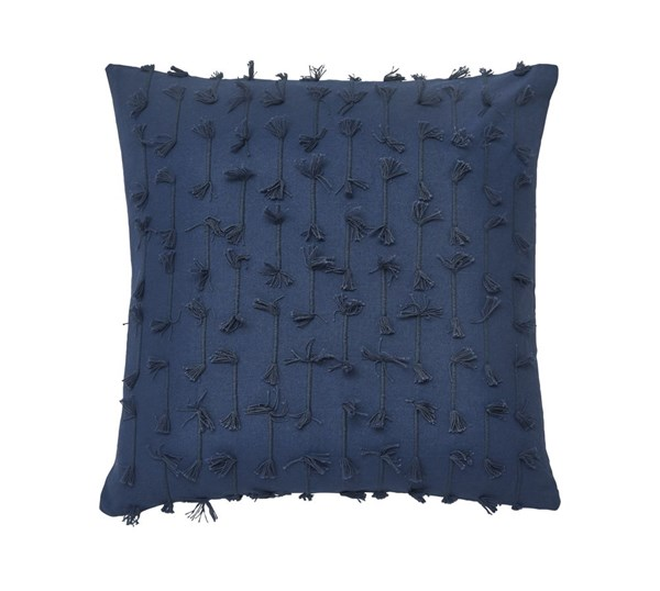 4 Eleri Traditional Blue Fabric Down Pillow Covers A1000260