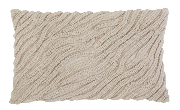 Stitched Transitional Natural Striped Pillow A1000264-VAR