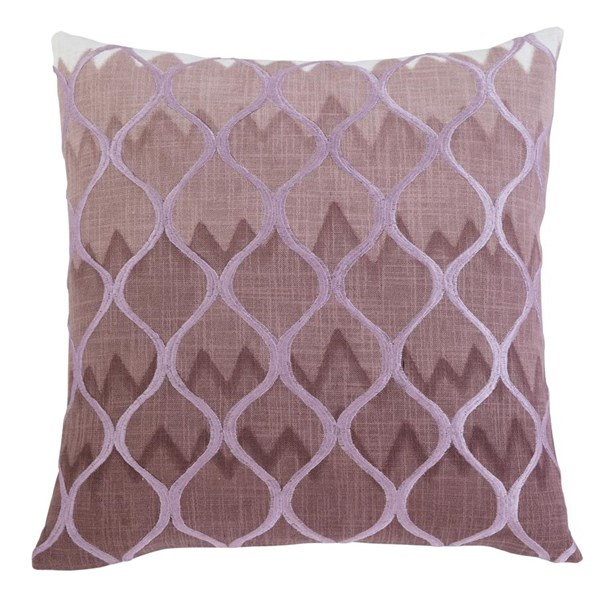 Stitched Contemporary Purple Pillow Cover A1000271P