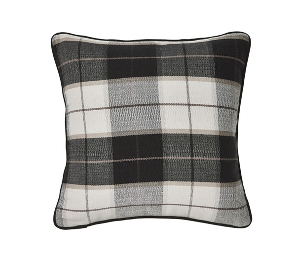 4 Raylan Casual Black Fabric Down Pillows A1000276