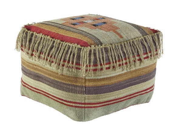 Bentlee Traditional Fabric Cushions Pouf A1000282