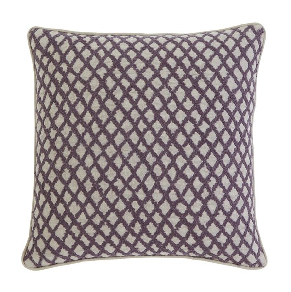 4 Stitched Transitional Plum Square Pillow Covers A1000283