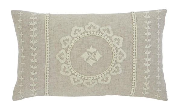 Embroidered Traditional Antique Rectangle Pillow A1000286P