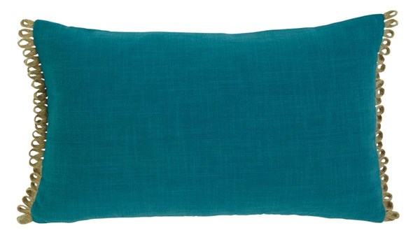 Solid Casual Turquoise Rectangle Pillow A1000303P