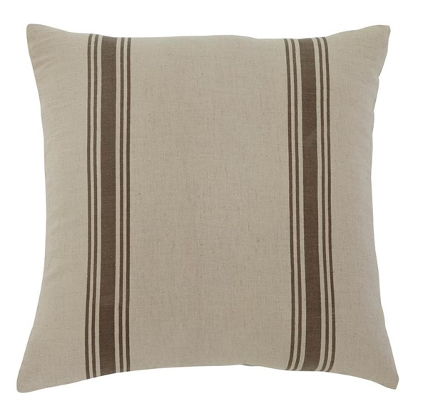 4 Striped Vintage Casual Natural Square Pillows A1000307