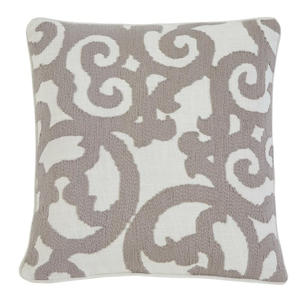 Embroidered Vintage Casual White Natural Pillow Cover A1000309P