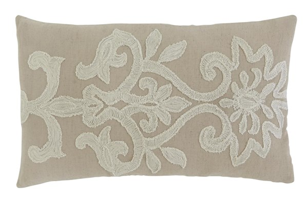 Embroidered Vintage Casual Beige Pillows A1000311-VAR