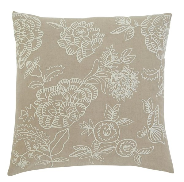 4 Embroidered Vintage Casual Natural Pillow Covers A1000312
