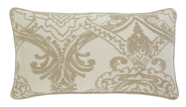 Stitched Vintage Casual Natural Rectangle Pillow A1000317P