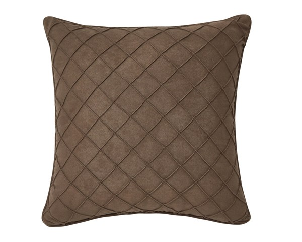 Damia Contemporary Brown Poly Fabric Pillow A1000327P