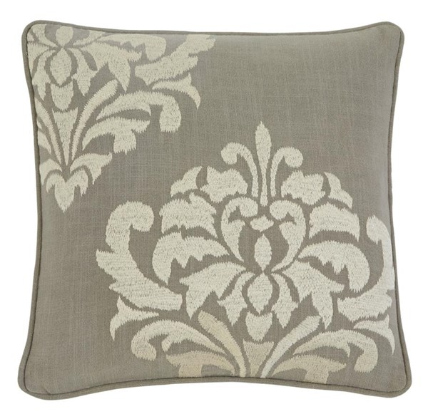 Damask Traditional Classics Gray Pillow Cover A1000329P