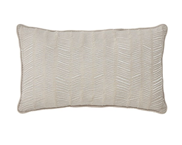 Canton Contemporary Cream Poly Cotton Pillow A1000331P