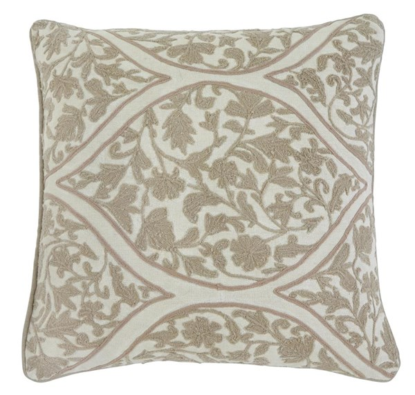 4 Stitched Contemporary Natural Pillow Covers A1000336