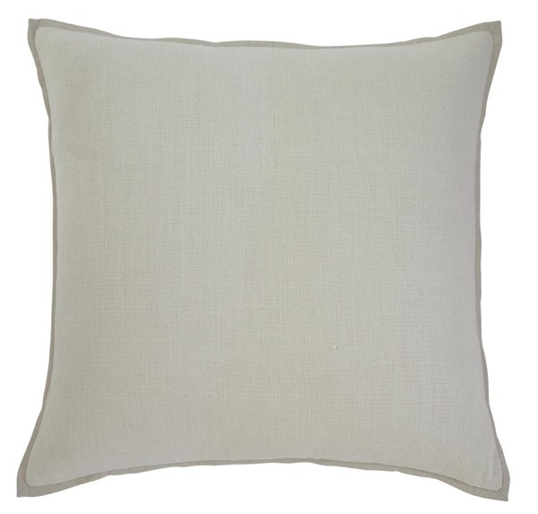 Solid Vintage Casual Ecru Square Pillow Cover A1000339P