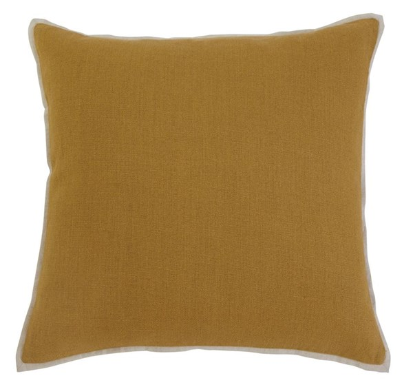 Solid Vintage Casual Mustard Pillow Covers A1000343-VAR