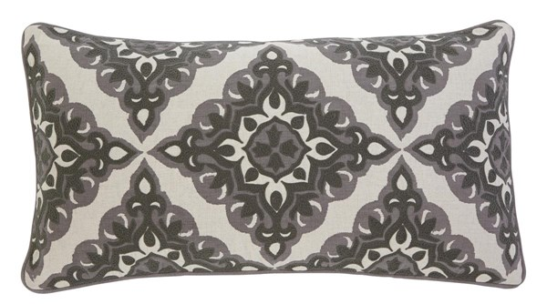4 Geometric Vintage Casual Gray Cotton Pillows A1000346