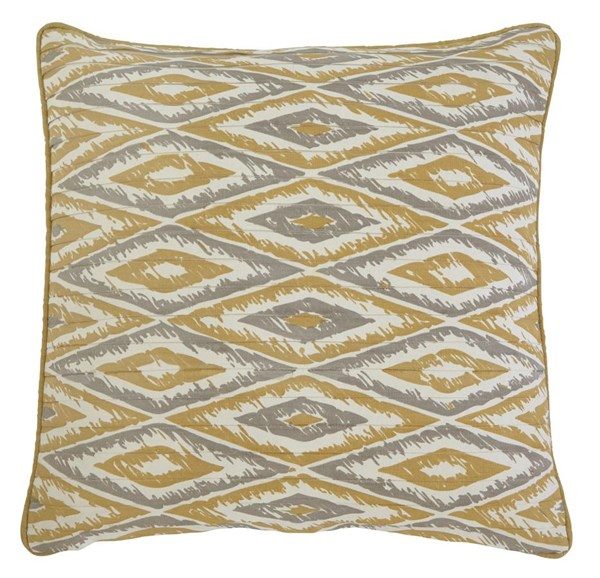 4 Stitched Vintage Casual Gold Pillow Covers A1000349