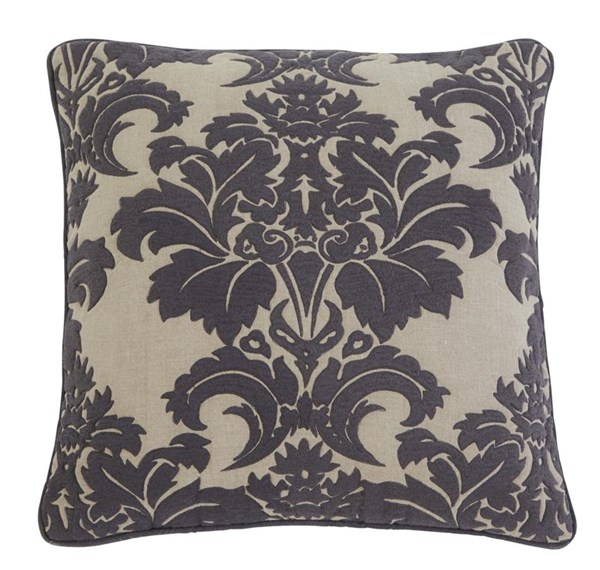 4 Damask Vintage Casual Steel Pillow Covers A1000350