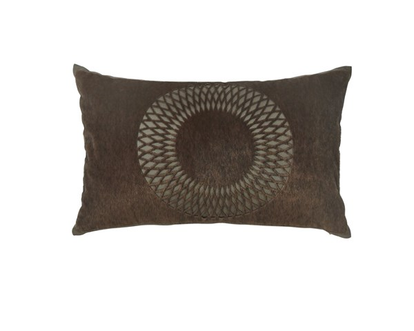 Lazarus Contemporary Brown Fabric Poly Pillow A1000351P