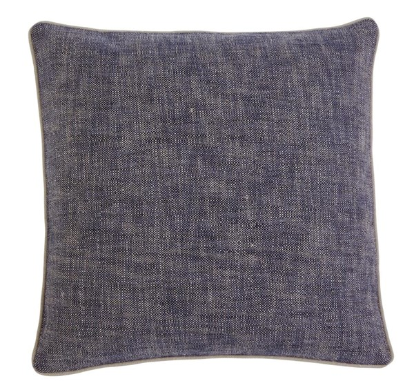 Textured Vintage Casual Navy Pillow Cover A1000355P