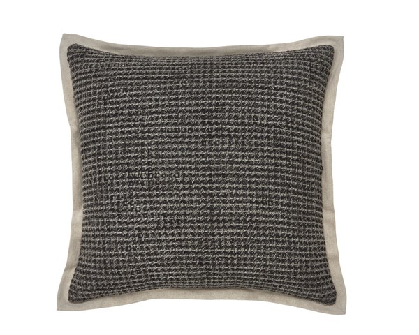 Wrexyville Contemporary Charcoal Fabric Poly Pillow A1000359P